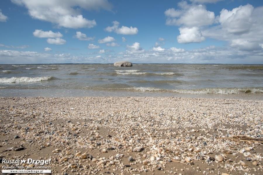 Plaża przy Świętych Kamieniu w Tolkmicku