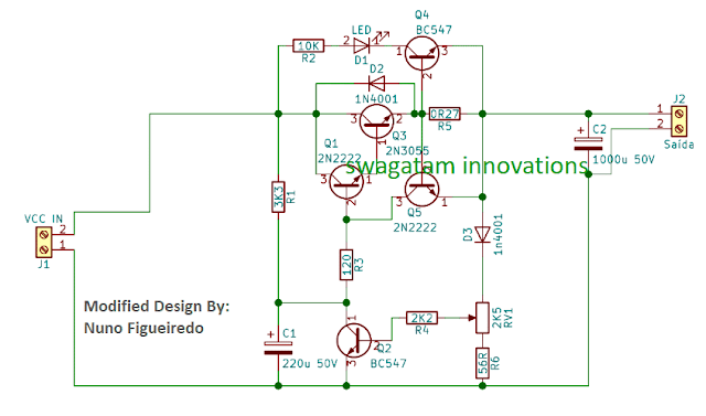 improved 2N3055 based power supply with minimum parts