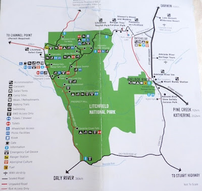 LitchField National Park map