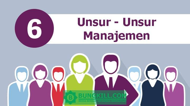 6 Unsur - Unsur Manajemen