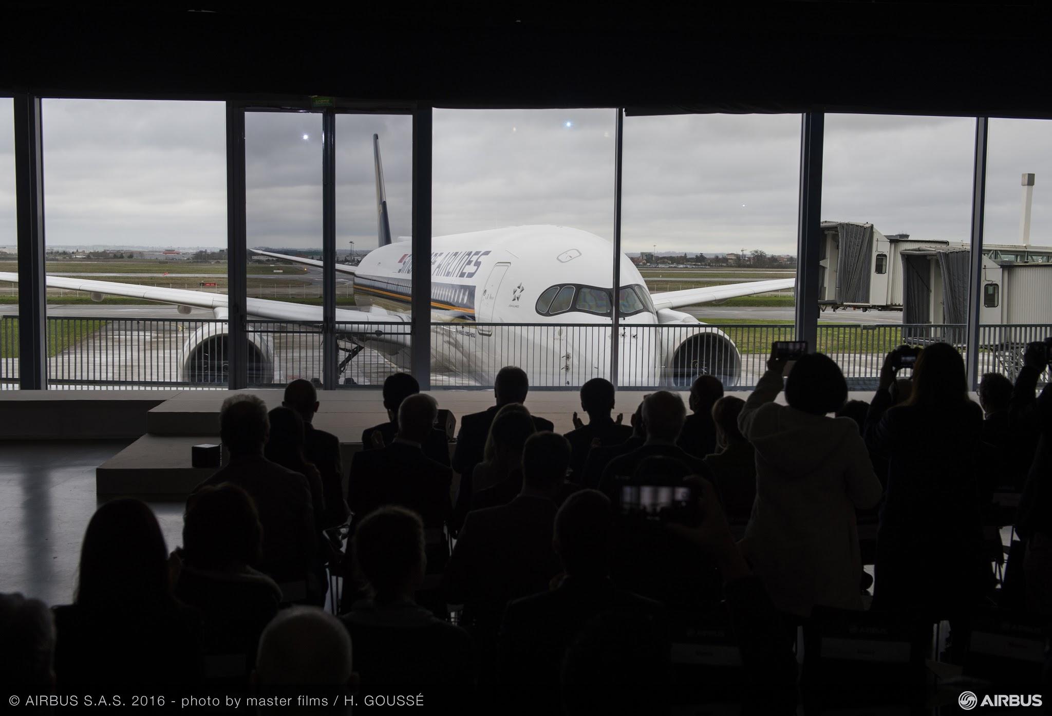 Singapore Airlines recebe seu primeiro Airbus A350 XWB