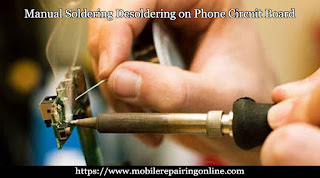 how do you solder step by step on cell phone circuit this picture help you