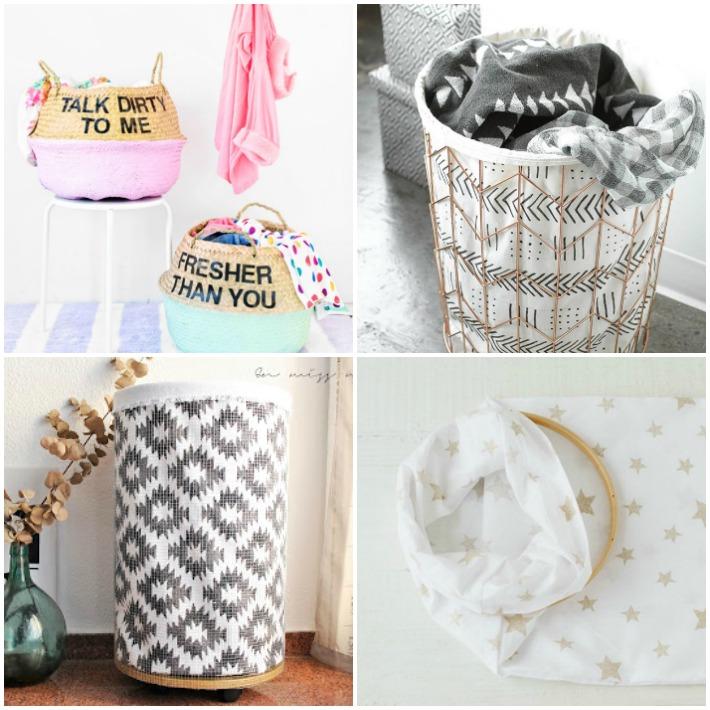 4 Diy cestas para la ropa
