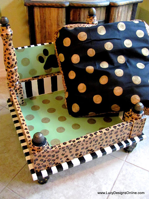 metallic dots dog cushion