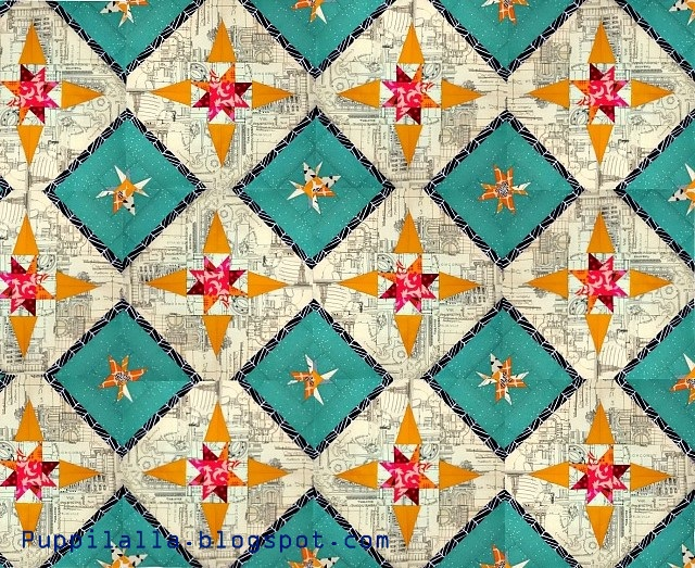 Stellar Flare, Quilt Block, free pattern, Quilting, New Block blog hop, Cloud 9 Fabrics, Puppilalla, Solids, new design, quilting tutorial, completed quilt