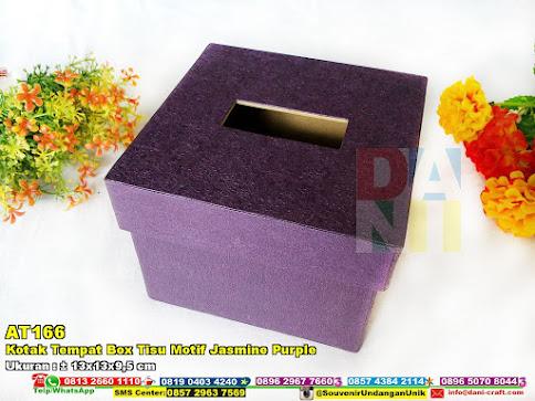 Kotak Tempat Box Tisu Motif Jasmine Purple