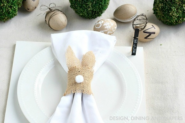 Bunny Napkin Rings from Design Dining and Diapers