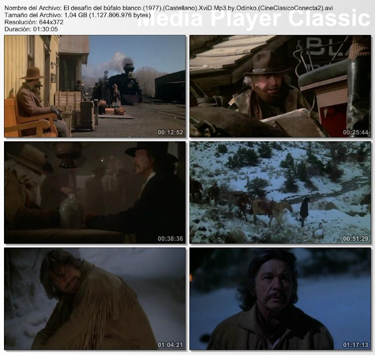 Secuencias del dvd: El Desafío del Búfalo Blanco | 1977 | The White Buffalo