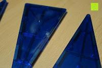 Dreieck beschädigt: Playbees 100 Teile Magnetische Bausteine Set für 2D und 3D Form Konstruktionen, Regenbogenfarben Magnetspielzeug, Baukasten Magnetspiel, Magnetbausteine