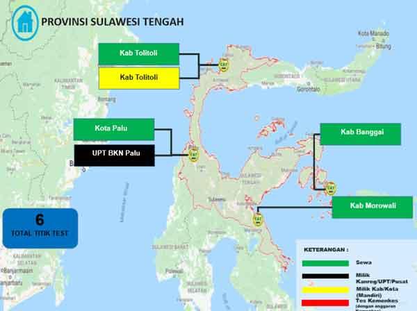Lokasi Tes Cat BKN Propinsi Sulawesi Tengah