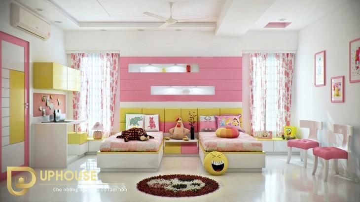 Phòng ngủ màu vàng kem 04