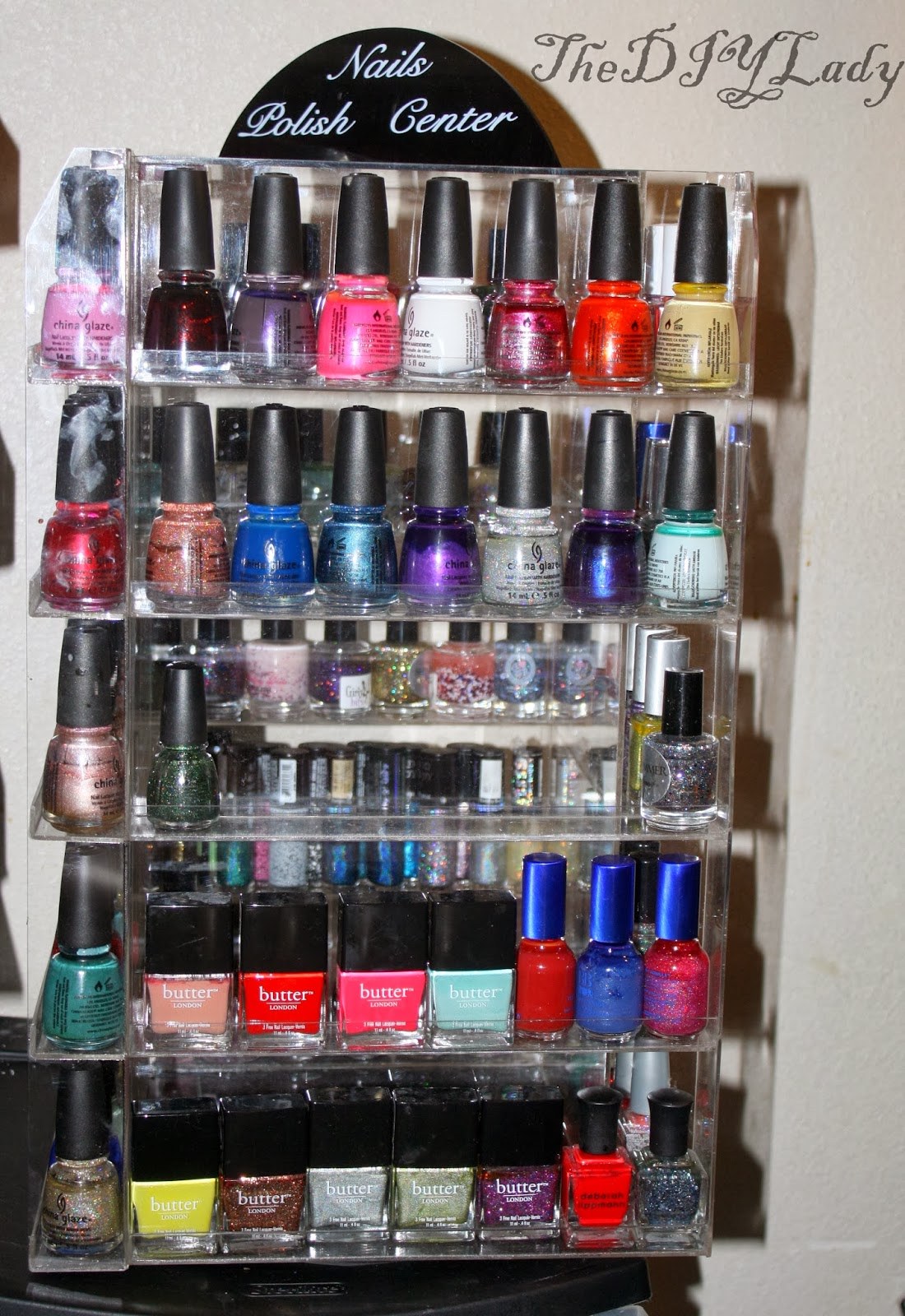 The Do It Yourself Lady Storage Stash Update Nail Polish Makeup Jewelries Pic Spam