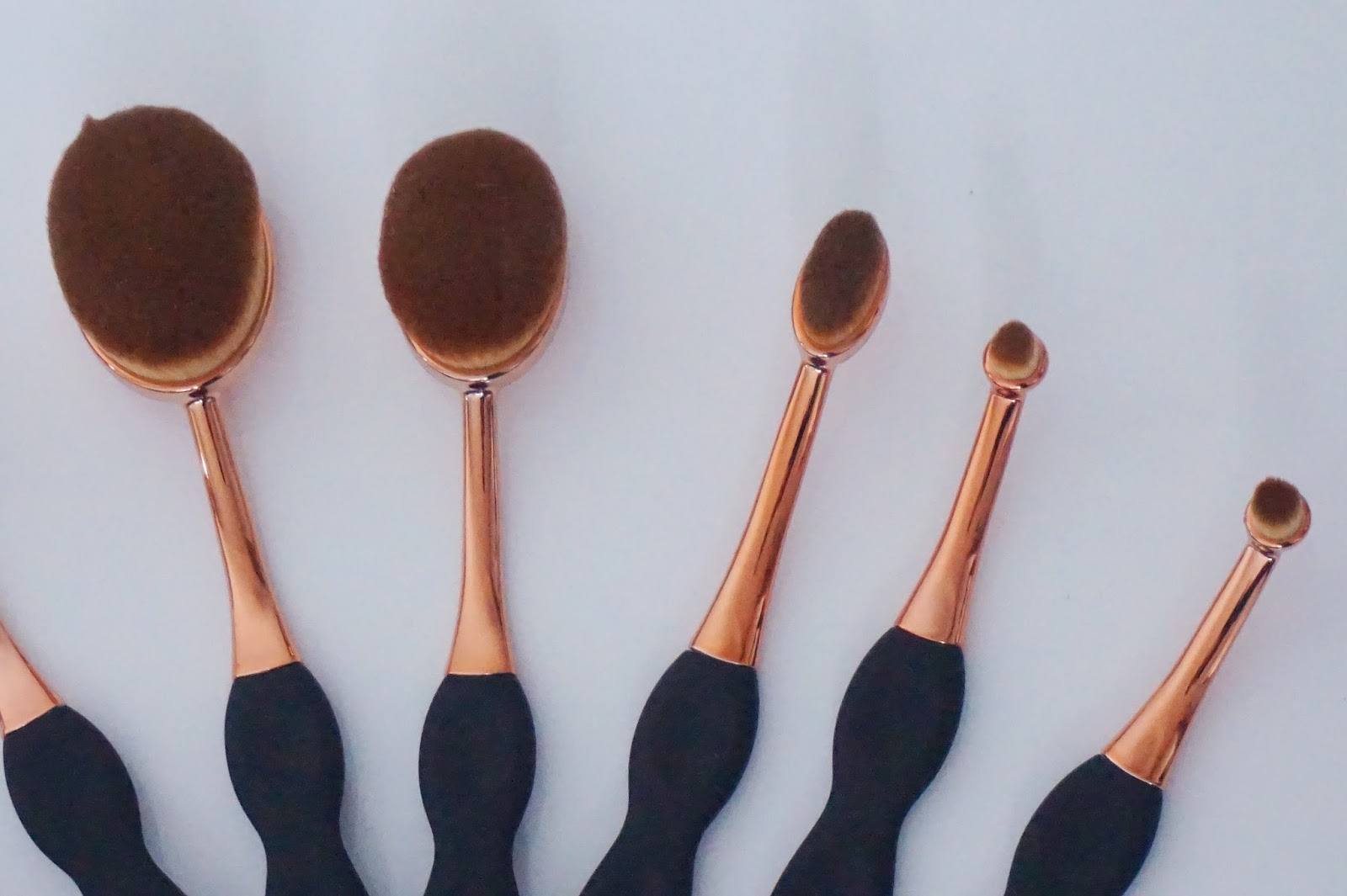 Beaubelle Oval brushes, close up left side