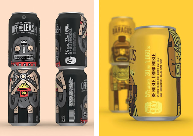 Best of Packaging | Noble Ray Brewing Co. by Magnificent Beard