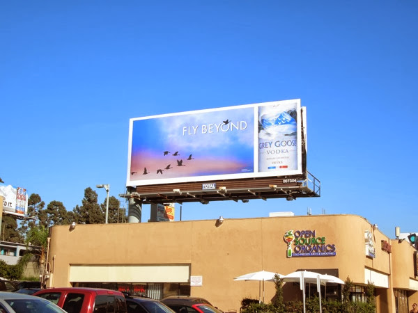 Grey Goose Vodka Fly Beyond billboard