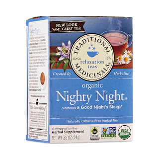 night night herbal tea for a bedtime routine
