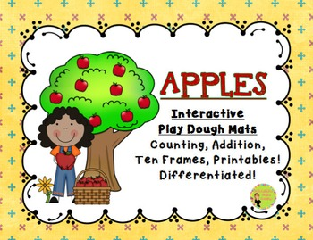 http://www.teacherspayteachers.com/Product/Apples-Interactive-Play-Dough-Mats-Counting-Centers-Printables-1353686
