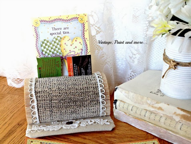 Book Page Note Holder - desk top note holder vignette