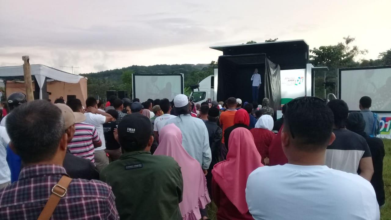 Terkesan Pidato Hologram Jokowi, Warga Sukabumi Makin Yakin Coblos Paslon 01