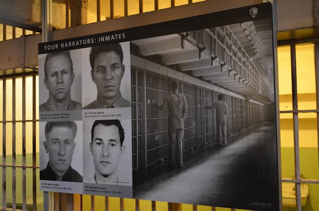 Fotos dos narradores - presos verdadeiros de Alcatraz.