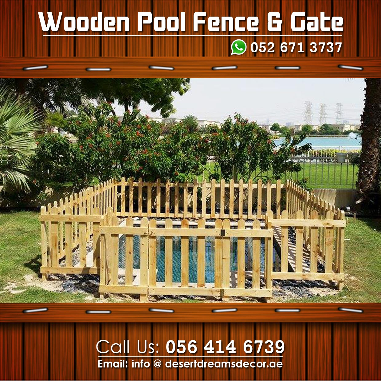 Wooden Fence In Uae Most Affordable Price Wooden Fence In Uae