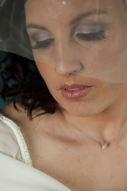 bridal makeup white,silver and gray