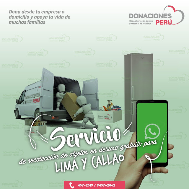 Servicio de recolección gratuito - objeto en desuso - Lima y Callao - Dona y recicla - Recicla y Dona