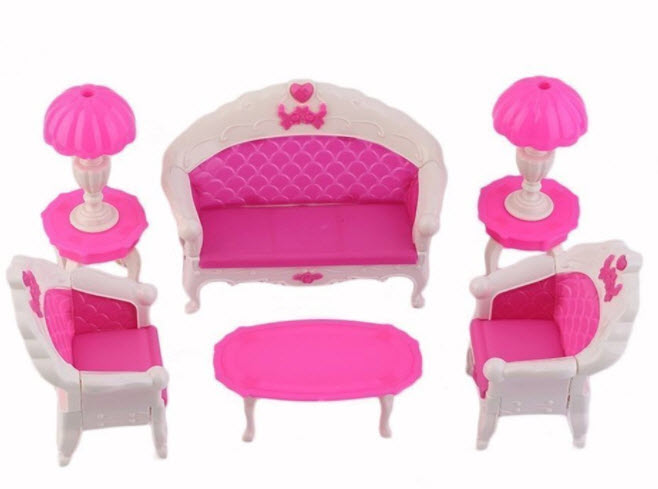 barbie doll house furniture. BARGAIN HOUSE Doll House Furniture Toy Set Dollhouse Sofa Chair Couch Desk Lamp For Barbies Dolls Disassembled Bedroom Barbie