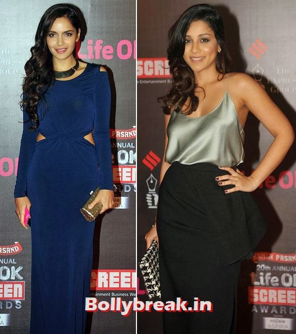 Shazahn Padamsee and Amrita Puri, Life Ok Screen Awards 2014 Red Carpet Photos