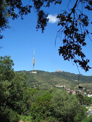 Tibidabo from Oreneta Park