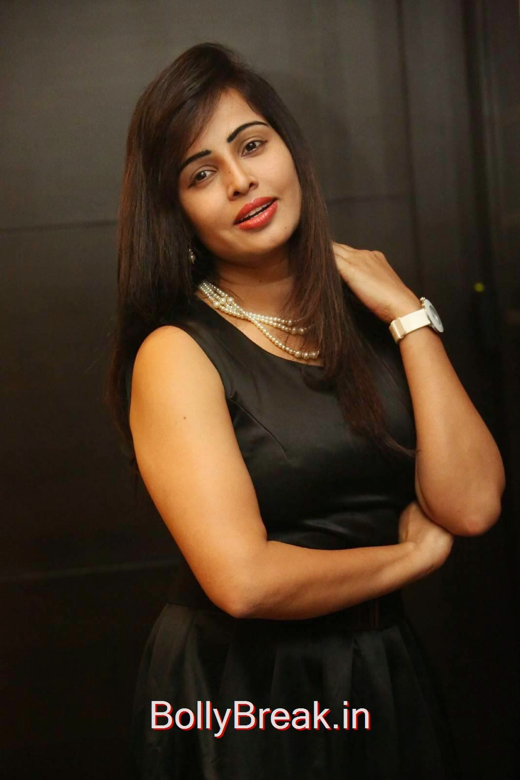 Hashika Dutt Photos, Hashika Dutt Hot Pics In Black Dress from Player Trailer Launch