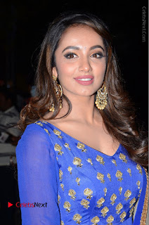 Telugu Actress Tejaswi Madivada Pos in Blue Long Dress at Nanna Nenu Na Boyfriends Audio Launch  0002.JPG
