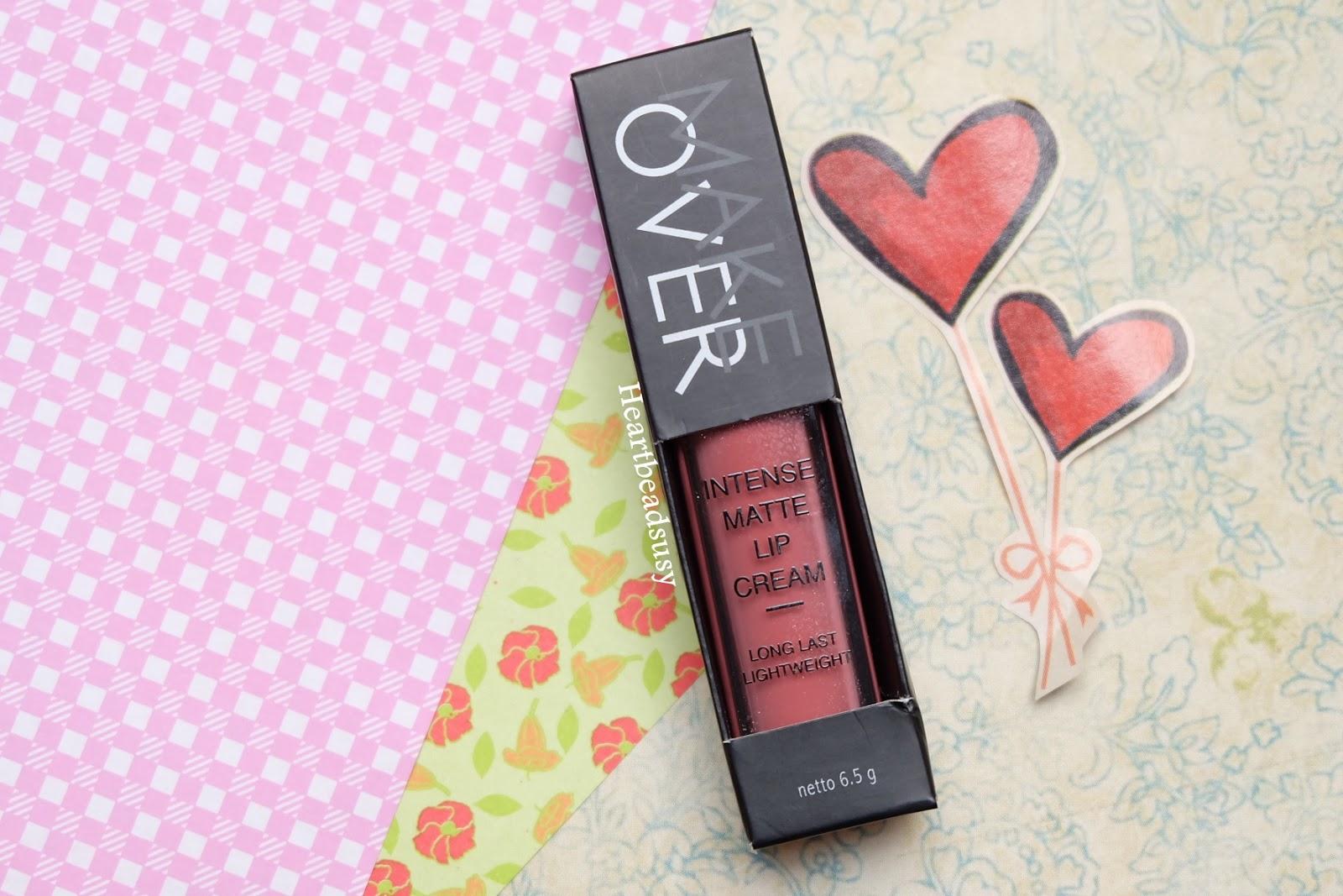 Make Over Intense Matte Lip Cream Heartbeads 003 Secret