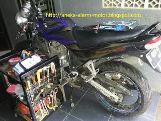 Cara pasang alarm motor remote pada Yamaha Scorpio Z