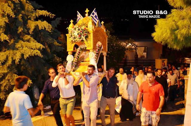Η εορτή της Κοίμησης της Θεοτόκου στα Ίρια Αργολίδας (βίντεο)