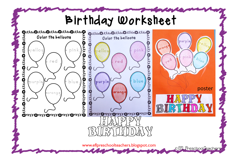 Esl Efl Preschool Teachers Happy Birthday For Ell