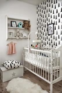 dormitorio bebé papel tapiz