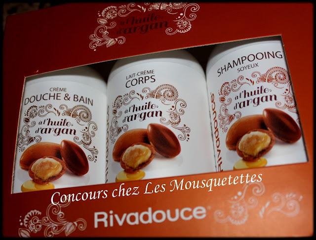 Concours Rivadouce Coffret Argan chez Les Mousquetettes©