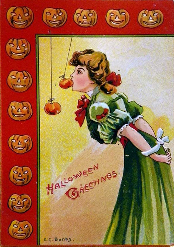 free vintage clip art images  vintage halloween greeting cards