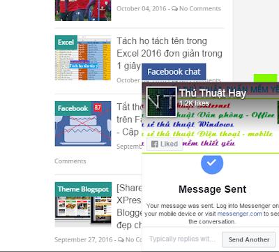 Chèn khung chát Facebook vào blogspot tuyệt đẹp