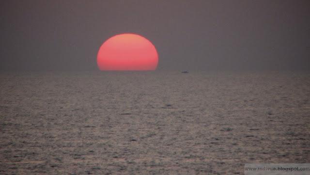 Auringonlasku Goassa