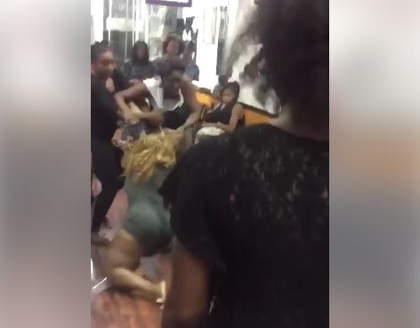 Black girls strip fight