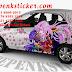 Mobil, Honda, Brio, Cutting Sticker, Cutting Sticker Bekasi, cutting sticker Mobil, Bunga Sakura, jakarta, sticker mobil, bekasi