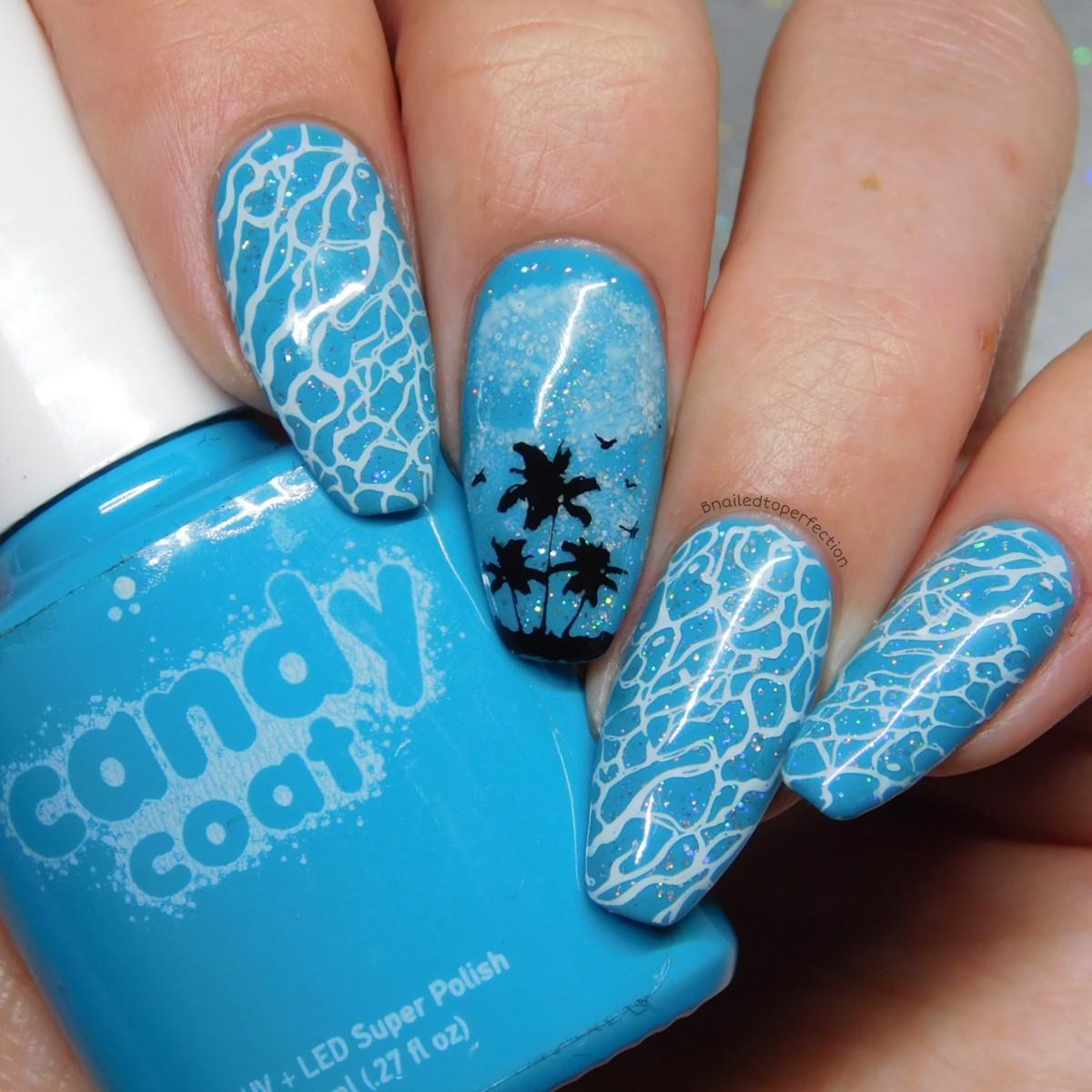 B Nailed To Perfection Holiday Nails Candy Coat And Lina Nail Art