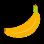 バナナ(黄)のイラスト
