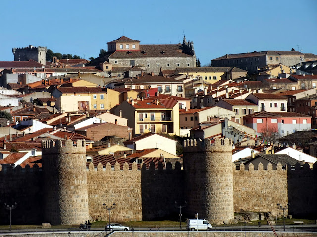 Tejados y muralla de Ávila