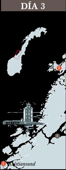 Recorrido dia 3 del trayecto de Hurtigruten. Trodemheim