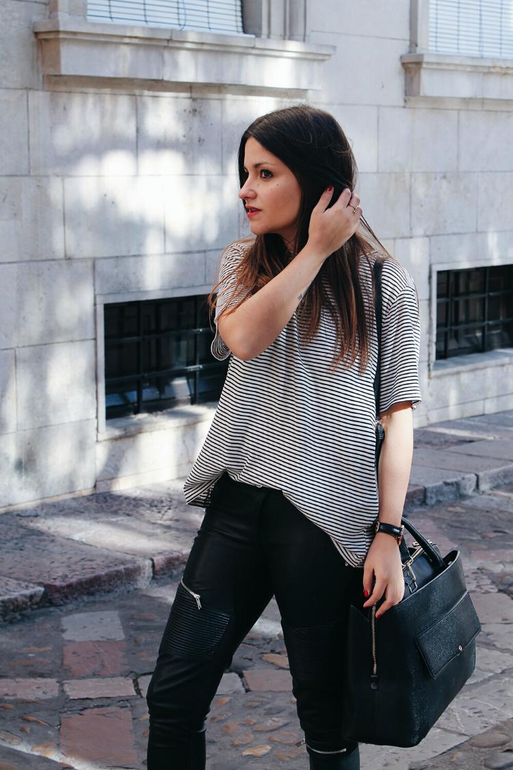 look con camiseta de rayas blog de moda