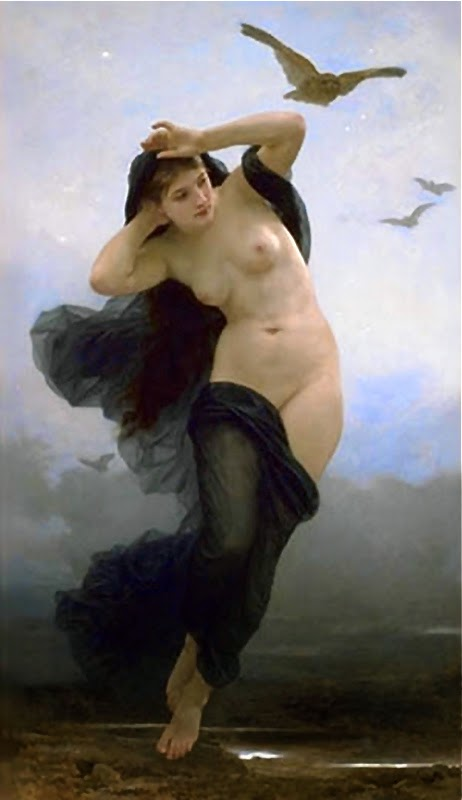 La Nuit William-Adolphe Bouguereau, French, 1883 Hillwood Museum, Washington D.C.