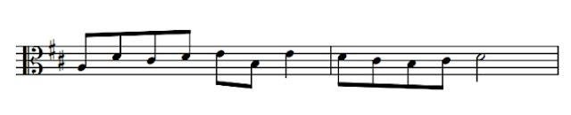 Write out this alto clef passage into treble clef